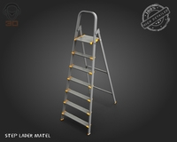 Metal step ladder 3D Model