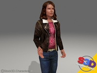 Monica-teenager 3D Model
