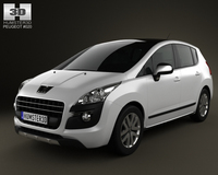 Peugeot 3008 Hybrid 2012 3D Model
