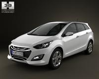 Hyundai i30 (Elantra) Wagon 2013 3D Model