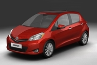 2012 Toyota Yaris (Vitz) 3D Model