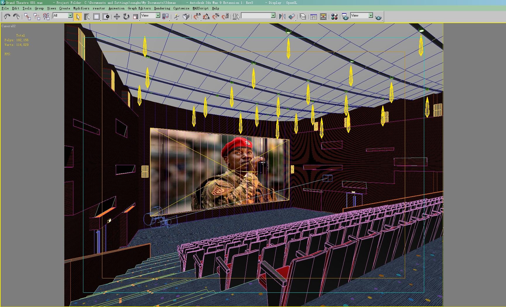 Grand theatre 001 3d model for Theatre model