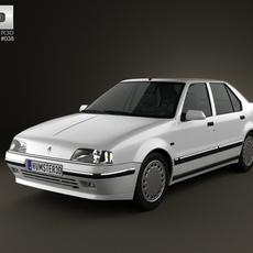 Renault 19 Sedan 1988 3D Model