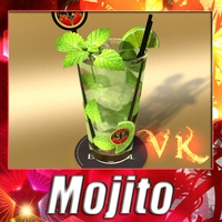 Mojito Cocktail High Detail 3D Model