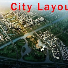 Urban design 002 3D Model
