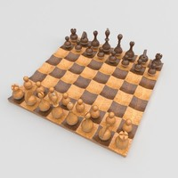 Wobble chess set 3D Model