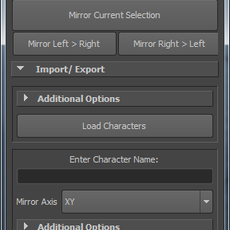 mirrorPose (pymel) for Maya 1.1.0 (maya script)