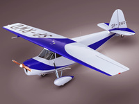Propeller airplane RWD5 3D Model