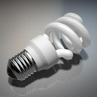 Energy Efficient lightbulb 3D Model