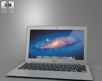 Apple MacBook Air 11 inch 2012 3D Model