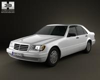 Mercedes-Benz S-class (W140) 1999 3D Model