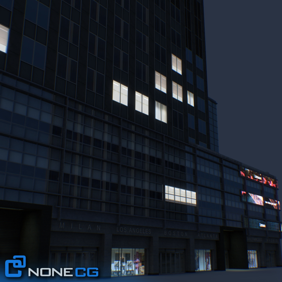 Nyc building lehman brothers 3d model for Model house nyc