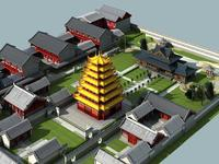 The Guanyinge Temple 3D Model