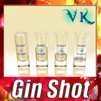 Realistic Gin Shot Glass 3D Model