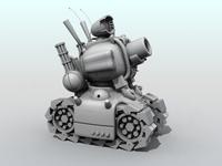 Metal Slug Tank 3D Model