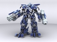 Ironhide Robotic Character 3D Model