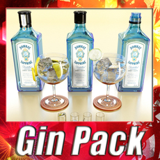 High Detailed Bombay Sapphire Collection 3D Model