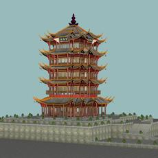 The Huanghelou Tower 3D Model