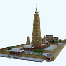 The louxin Monastery 3D Model
