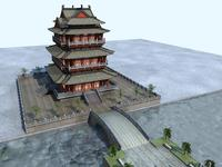 The Tengwangge Tower 3D Model