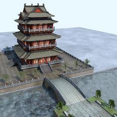 The Tengwangge Tower 3D Model