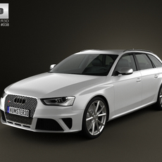 Audi RS4 Avant 2013 3D Model