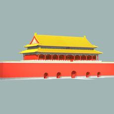 The Tiananmen Gate (the Gate of Heavenly Peace) 3D Model
