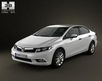 Honda Civic Sedan 2012 3D Model
