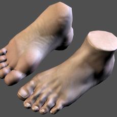 lowpoly Foot 3D Model