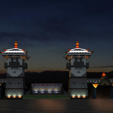 The Xichang minority custom garden 3D Model