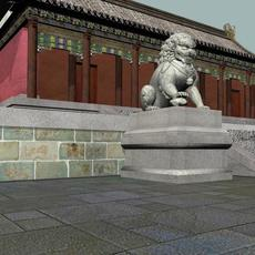 The zaojue temple 3D Model