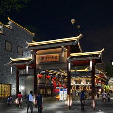 China street 001 3D Model