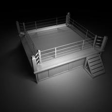 Boxing-Wrestling Ring 3D Model
