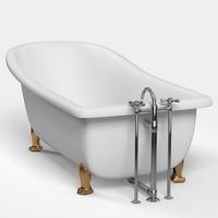 Classic Bathtub 3D Model