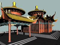China Temple 2 3D Model