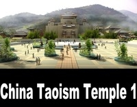 China Taoism Temple 1 3D Model