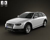 Audi A4 Allroad 2013 3D Model