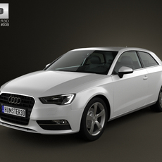 Audi A3 Hatchback 3-door 2013 3D Model