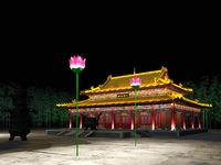 China Temple lighting 3 3D Model