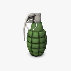 Low poly hand grenade 3D Model