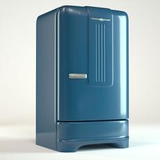 Retro Refrigerator 3D Model