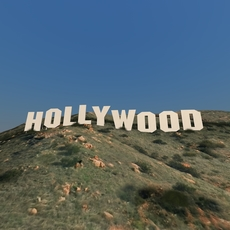 Hollywood sign 3D Model