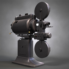 Movie Projector 3D Model