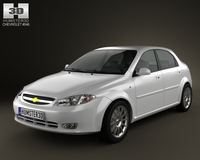 Chevrolet Lacetti Hatchback 2011 3D Model