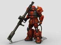 Robot ZaKu 3D Model