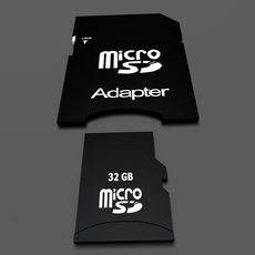 SD Card And Adapter 3D Model