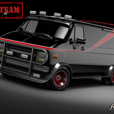 A-Team GMC van 3D Model