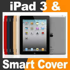 Apple New iPad 3 and Smart Cover 3D Model