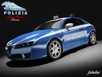 Alfa Romeo Brera Polizia 3D Model