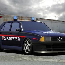 Alfa 75 Carabinieri 3D Model